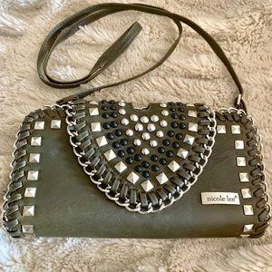 Nicole Lee Studded Crossbody  Wallet Handbag